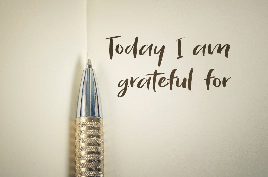 Grateful in a journal